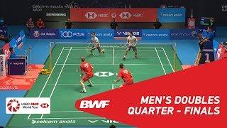 【Video】Hiroyuki ENDO・Yuta WATANABE VS Kim ASTRUP・Anders Skaarup RASMUSSEN, CELCOM AXIATA Malaysia Open 2018 quarter finals