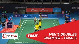 【Video】Takeshi KAMURA・Keigo SONODA VS GOH V Shem・TAN Wee Kiong, CELCOM AXIATA Malaysia Open 2018 quarter finals