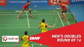 【Video】GOH V Shem・TAN Wee Kiong VS LIU Cheng・ZHANG Nan, CELCOM AXIATA Malaysia Open 2018 best 16