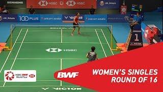【Video】Saina NEHWAL VS Akane YAMAGUCHI, CELCOM AXIATA Malaysia Open 2018 best 16