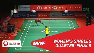 【Video】TAI Tzu Ying VS Ratchanok INTANON, PERODUA Malaysia Masters 2019 quarter finals