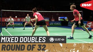 【Video】Marcus ELLIS・Lauren SMITH VS Takuro HOKI・Wakana NAGAHARA, YONEX All England Open 2020 best 32