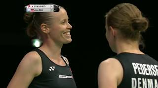 【Video】Yuki FUKUSHIMA・Sayaka HIROTA VS Kamilla Rytter JUHL・Christinna PEDERSEN, TOTAL BWF World Championships 2017 semifinal