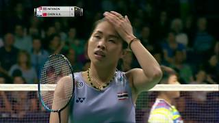 【Video】Ratchanok INTANON VS CHEN Xiaoxin, TOTAL BWF World Championships 2017 best 16