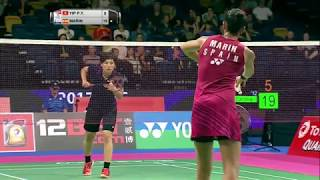 【Video】YIP Pui Yin VS Carolina MARIN, TOTAL BWF World Championships 2017 best 32