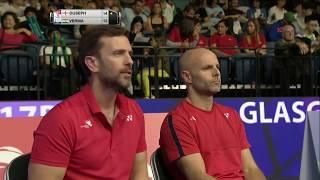 【Video】Rajiv OUSEPH VS Sameer VERMA, TOTAL BWF World Championships 2017 best 32