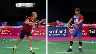 【Video】SON Wan Ho VS Gergely KRAUSZ, TOTAL BWF World Championships 2017 best 32