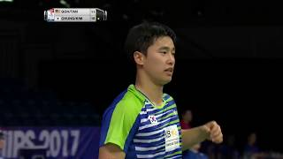 【Video】CHUNG Eui Seok・KIM DukYoung VS GOH V Shem・TAN Wee Kiong, TOTAL BWF World Championships 2017 best 32