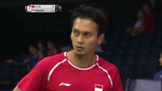 【Video】Mohammad AHSAN・Rian Agung SAPUTRO VS LI Junhui・LIU Yuchen, TOTAL BWF World Championships 2017 best 32