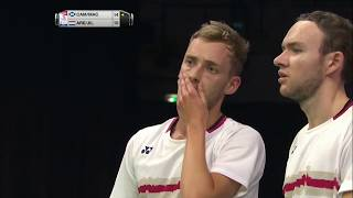 【Video】Martin CAMPBELL・Patrick MACHUGH VS Jacco ARENDS・Ruben JILLE, TOTAL BWF World Championships 2017 best 64