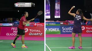 【Video】Ratchanok INTANON VS Rui Chen YAP, TOTAL BWF World Championships 2017 best 32