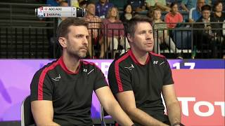 【Video】Chris ADCOCK・Gabrielle ADCOCK VS Bastian KERSAUDY・Lea PALERMO, TOTAL BWF World Championships 2017 best 32