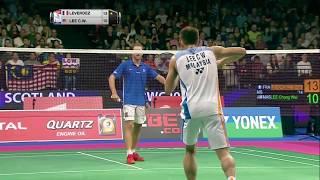 【Video】Brice LEVERDEZ VS LEE Chong Wei, TOTAL BWF World Championships 2017 best 64