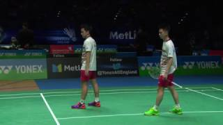 【Video】Marcus Fernaldi GIDEON・Kevin Sanjaya SUKAMULJO VS Mads CONRAD-PETERSEN・Mads Pieler KOLDING, YONEX All England Open semifi