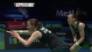 【Video】Kamilla Rytter JUHL・Christinna PEDERSEN VS JUNG Kyung Eun・SHIN Seung Chan, YONEX All England Open semifinal