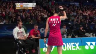 【Video】Ratchanok INTANON VS Carolina MARIN, YONEX All England Open quarter finals