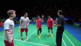 【Video】Takeshi KAMURA・Keigo SONODA VS Kim ASTRUP・Anders Skaarup RASMUSSEN, YONEX All England Open best 16