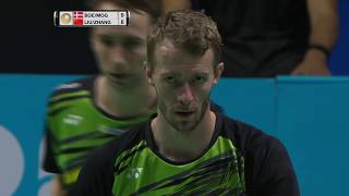 【Video】LIU Cheng/ZHANG Nan VS Mathias BOE/Carsten MOGENSEN, Dubai World Superseries Finals 2017 semifinal