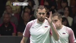 【Video】Vladimir IVANOV/Ivan SOZONOV VS Takeshi KAMURA/Keigo SONODA, DAIHATSU YONEX Japan Open quarter finals