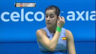 【Video】Nitchaon JINDAPOL VS Carolina MARIN, CELCOM AXIATA Malaysia Open best 16